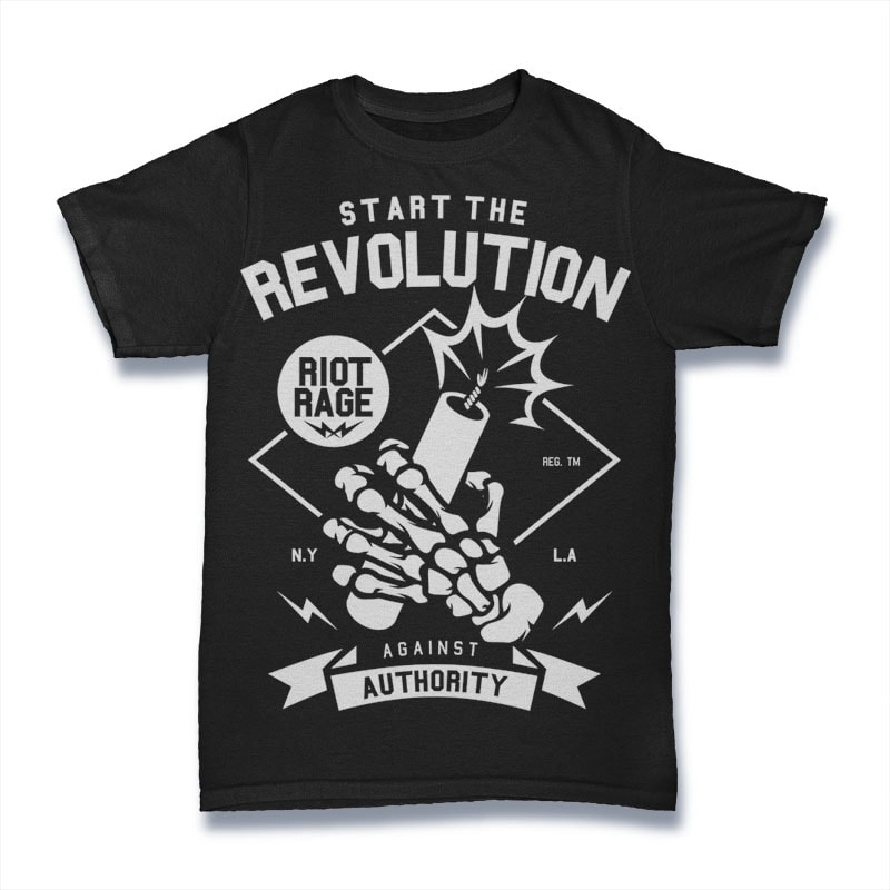Start The Revolution buy t shirt design