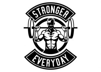 Stronger Everyday t shirt template vector
