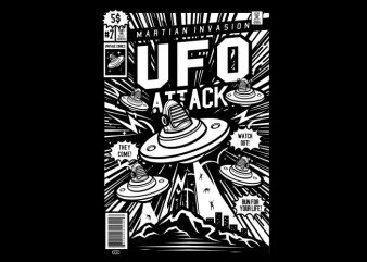 Ufo Attack buy t shirt design