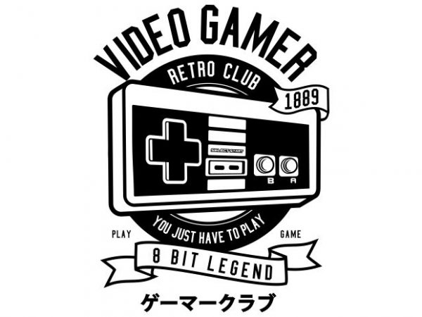Video Gamer t shirt vector art