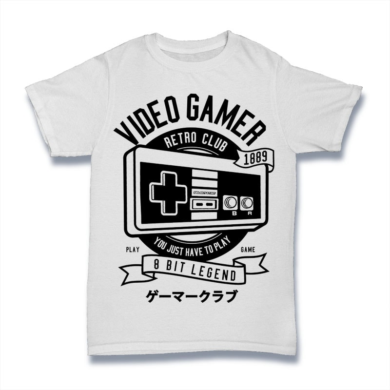 Video Gamer buy t shirt design