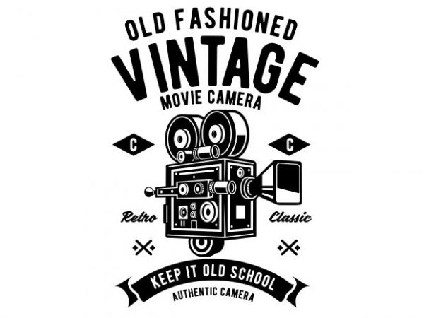 Vintage Movie Camera buy t shirt design