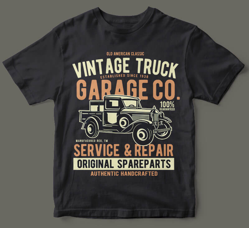 Vintage truck vector t shirt design buy t shirt designs for T shirt graphic designer