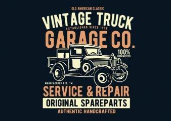 Vintage Truck vector t shirt design