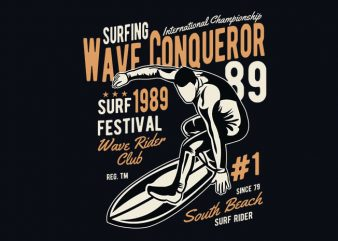 Wave Conqueror vector t shirt design