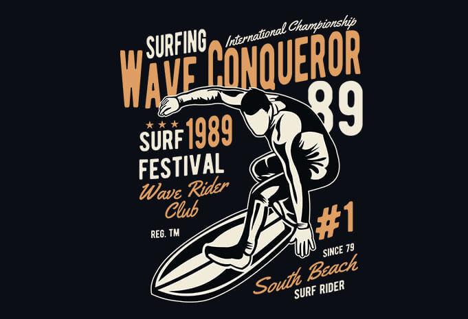 Wave Conqueror vector t shirt design - Wave Conqueror vector t shirt design buy t shirt design