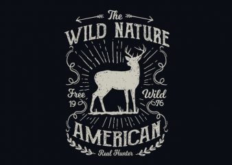 Wild Nature vector t shirt design buy t shirt design