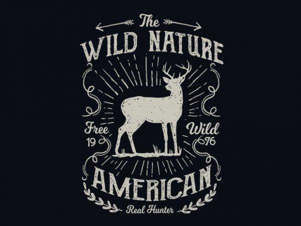 Wild Nature vector t shirt design buy t shirt design