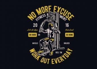 Work Out Everyday vector t shirt design buy t shirt design