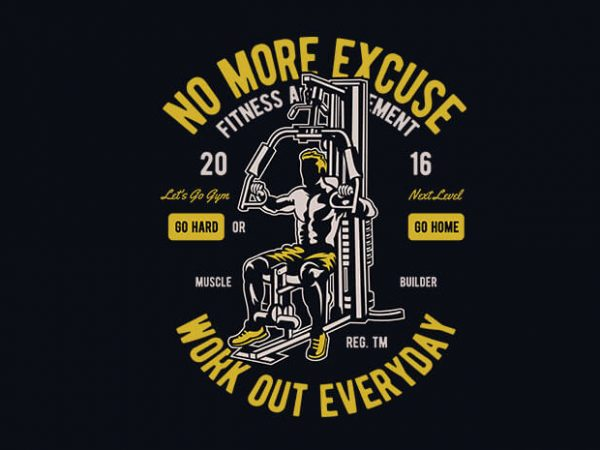 Work Out Everyday vector t shirt design 600x450 - Work Out Everyday vector t shirt design buy t shirt design