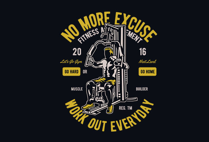 Work Out Everyday vector t shirt design - Buy t-shirt designs