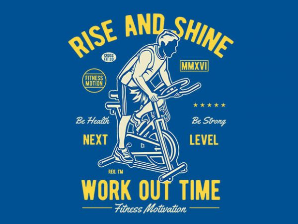 Work Out Time vector t shirt design