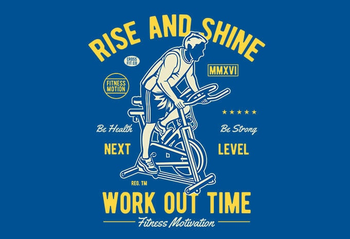 Work Out Time t shirt design - Work Out Time vector t shirt design buy t shirt design