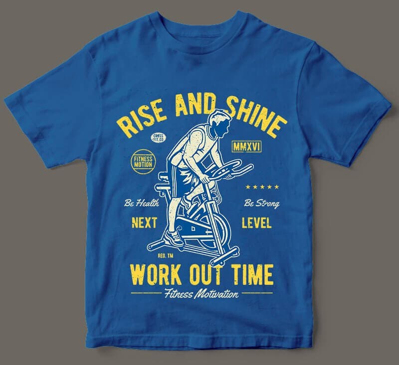 Work Out Time vector t shirt design buy t shirt design