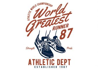 World Greatest Runner t shirt design for sale