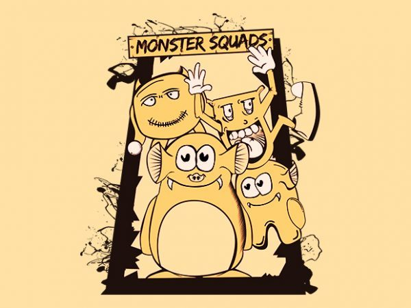 Monster Squads t shirt designs for sale