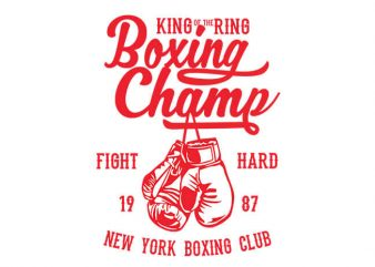 Boxing Champ t shirt design buy t shirt design