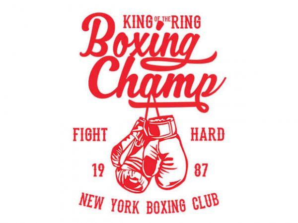 Boxing Champ t shirt design