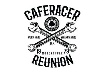 Caferacer Reunion t shirt design buy t shirt design
