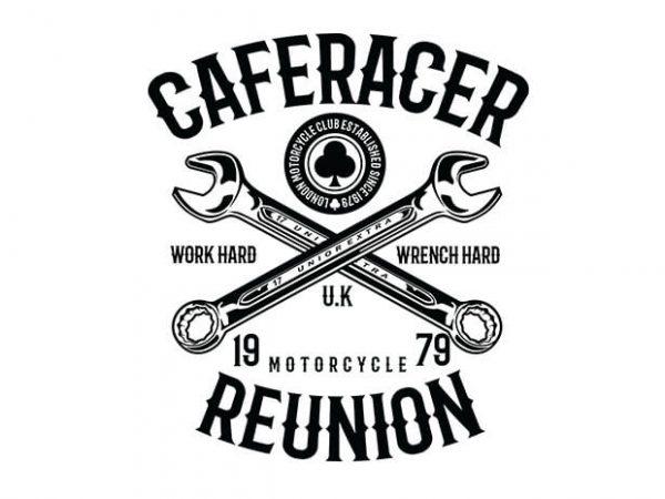 Caferacer Reunion t shirt design buy t shirt design