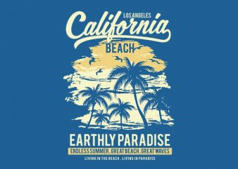 California Beach t shirt design