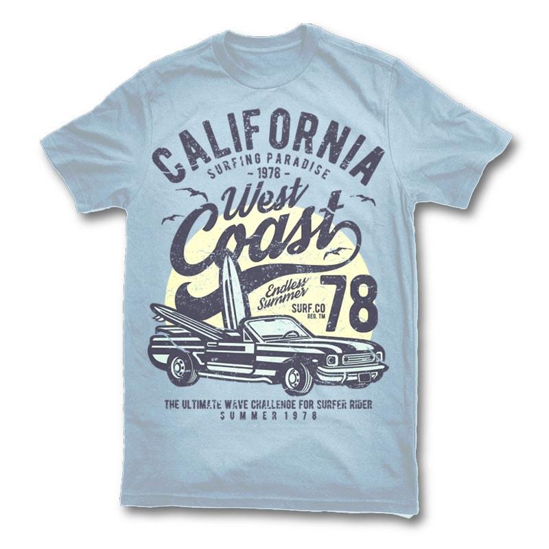California West Coast t shirt design buy t shirt design