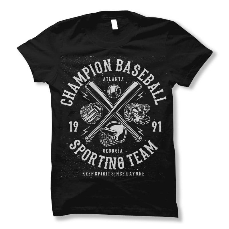 Champion Baseball t shirt design buy t shirt design