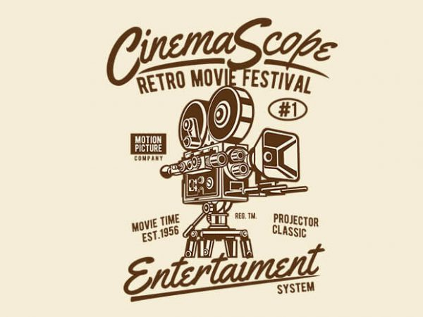 Cinema Scope t shirt design