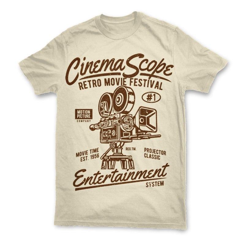 Cinema Scope t shirt design buy t shirt design