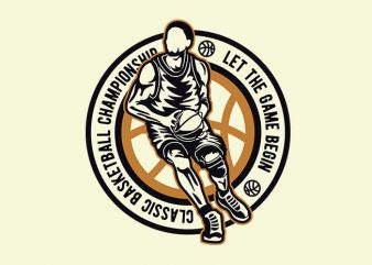 Classic Basketball t shirt design