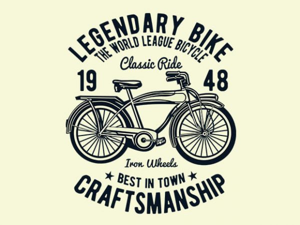Classic Bicycle t shirt design