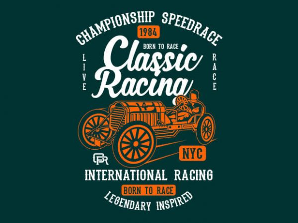 Classic Racing t shirt design buy t shirt design
