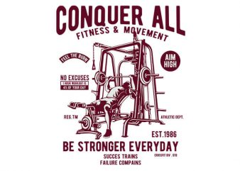Conquer All buy t shirt design