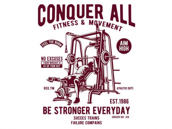 Conquer All t shirt vector file
