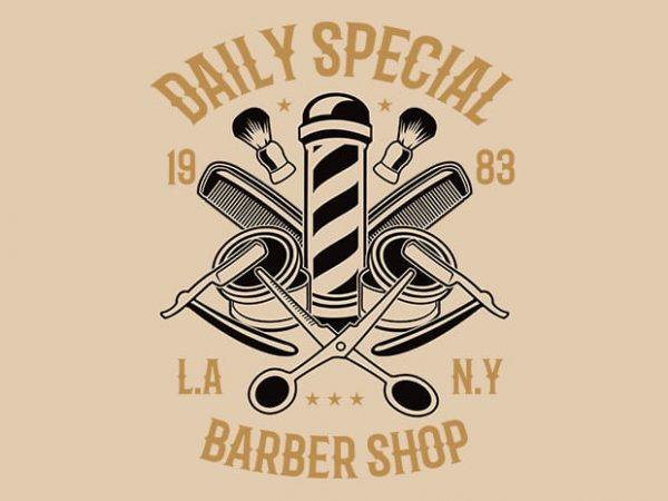 Daily Special Barber Shop t shirt design buy t shirt design