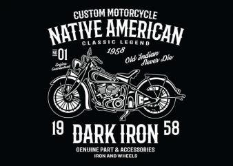 Dark Iron t shirt design buy t shirt design