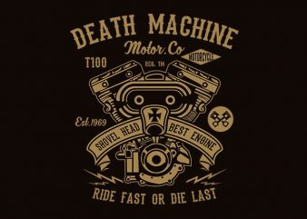 Death Machine t shirt design buy t shirt design