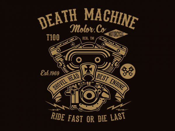 Death Machine t shirt design buy t shirt design