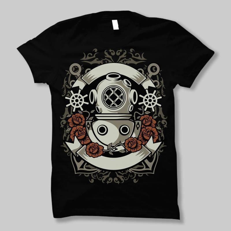 Diver t shirt design buy t shirt design
