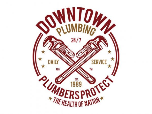 Downtown Plumbing t shirt design
