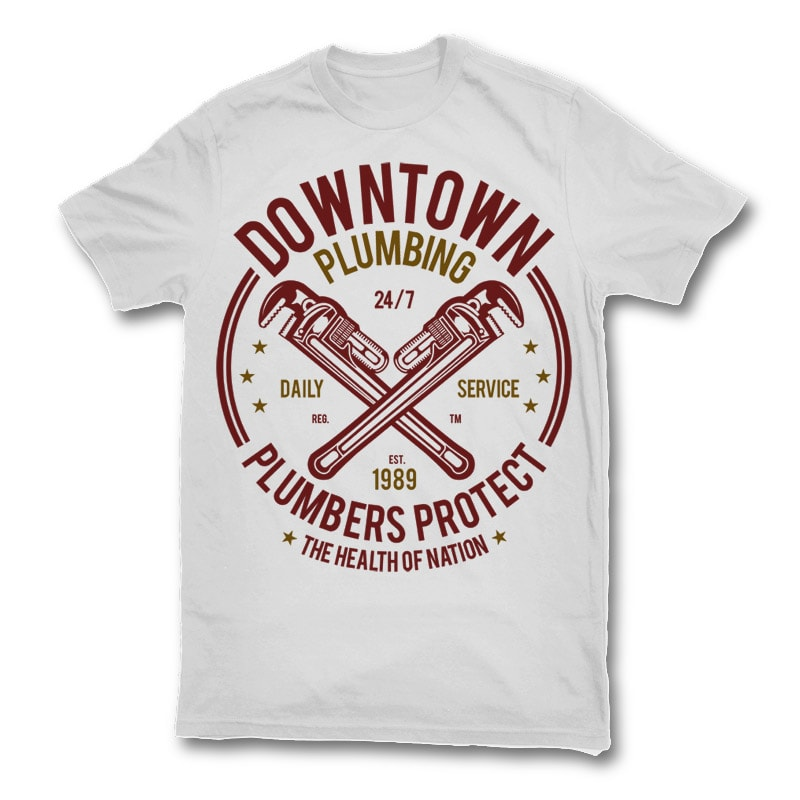 Downtown Plumbing t shirt design buy t shirt design