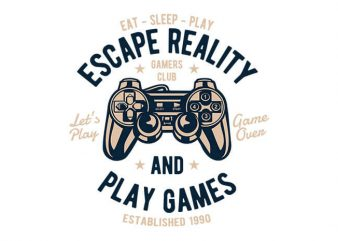 Escape Reality t shirt design