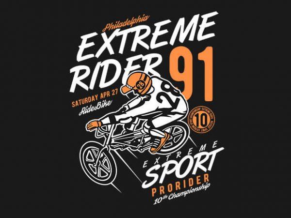 Extreme Rider t shirt design