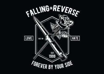 Falling In Reverse t shirt design buy t shirt design