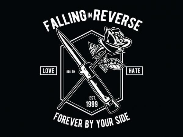 Falling In Reverse t shirt design buy t shirt design