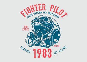 Fighter Pilot tshirt design buy t shirt design