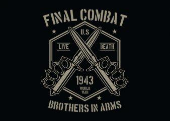 Final Combat tshirt design buy t shirt design