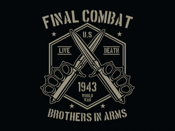 Final Combat 600x450 - Final Combat tshirt design buy t shirt design