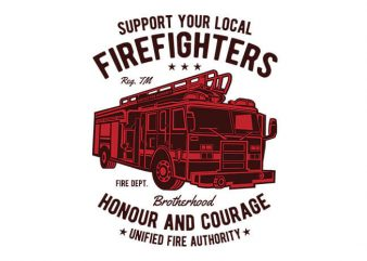 Fire Fighters Truck t shirt design buy t shirt design