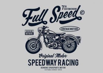 Full Speed t shirt design t shirt vector